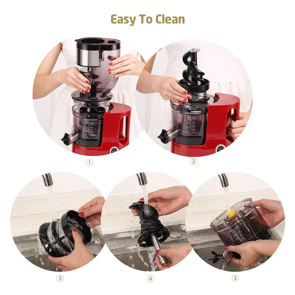 Easy to clean juicer step by step process