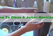How to clean a juicer machine.