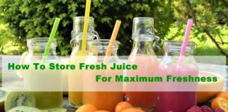 How to store fresh juice for maximum freshness
