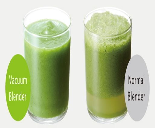 Smoothies of Nomal Blender Vs Vaccum Blender